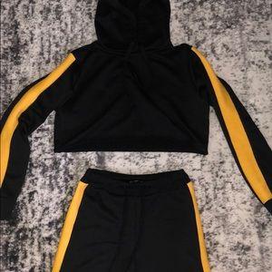 Joggers and Crop hoodie set